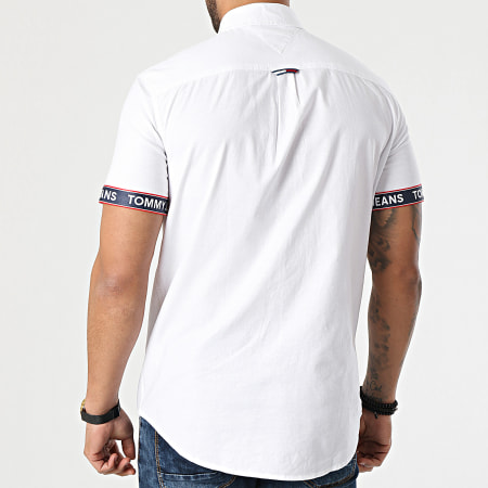 Tommy Jeans - Chemise Manches Courtes Tape 0143 Blanc