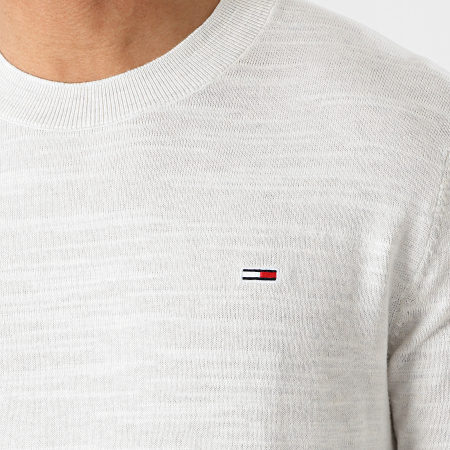 Tommy Jeans - Pull Lightweight Heather 0179 Gris Clair Chiné