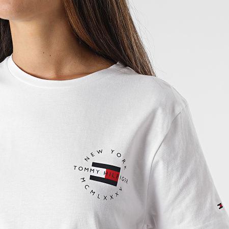 Tommy Hilfiger - Tee Shirt Femme Circle Chest Corp 7680 Blanc