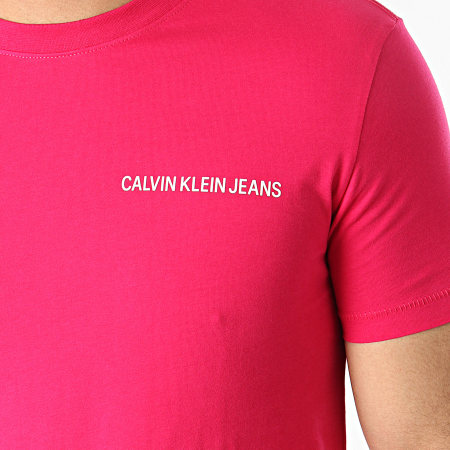 Calvin Klein Jeans - Tee Shirt Institutional Chest 5245 Fushia