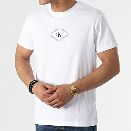 Calvin Klein Jeans - Tee Shirt CK Monotriangle 7448 Blanc