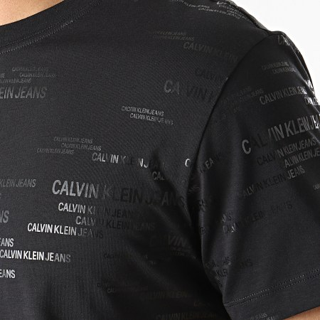 Calvin Klein Jeans - Tee Shirt Logo AOP 7503 Noir