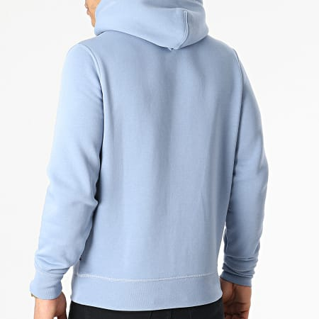 Tommy Hilfiger - Sweat Capuche Stacked Tommy Flag 7397 Bleu Clair