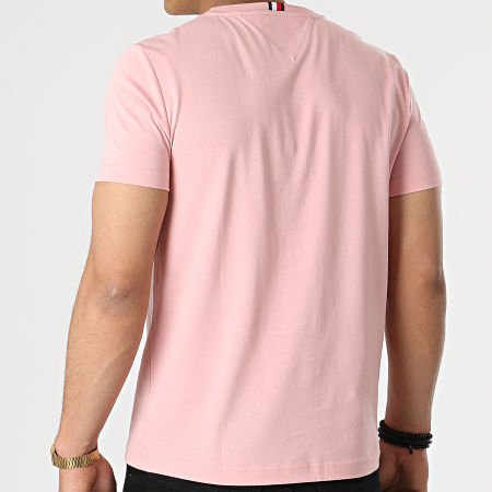 Tommy Hilfiger - Tee Shirt Stacked Tommy Flag 7663 Rose