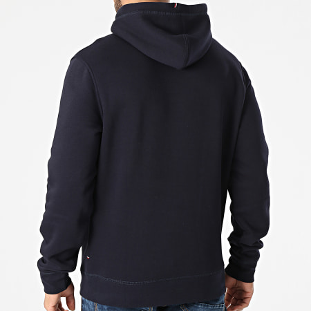 Tommy Hilfiger - Sweat Capuche Stacked Tommy Flag 7397 Bleu Marine