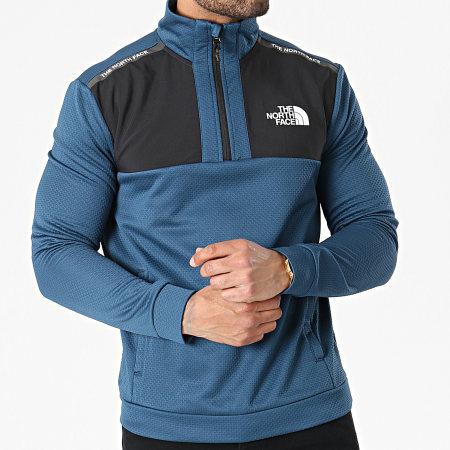 The North Face - Sweat Col Zippé A5576 Bleu Noir