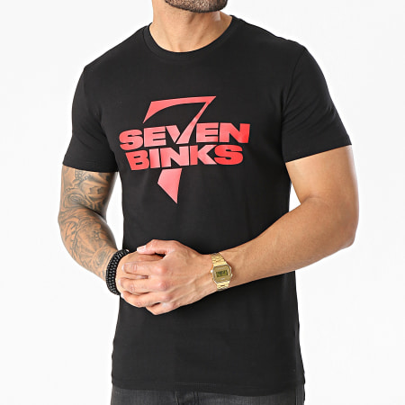 7 Binks - Tee Shirt Logo 2021 Noir Rouge
