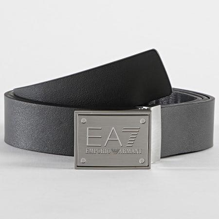EA7 - Ceinture Réversible 245524 Noir Anthracite
