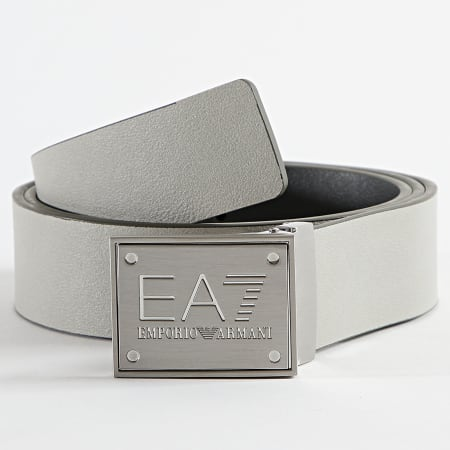 EA7 - Ceinture Réversible 245524 Gris Foncé Gris Clair