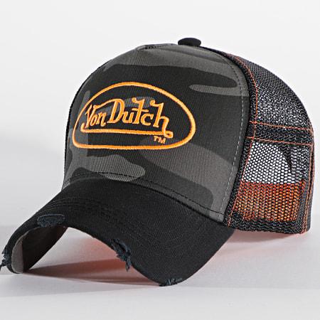 Von Dutch - Casquette Trucker Camo Gris Noir