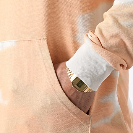 adidas - Sweat Capuche Tie Dye GN1880 Orange Gris