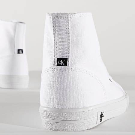 Calvin Klein Jeans - Baskets Montantes Femme Vulcanized Sneaker High Laceup 0049 Bright White