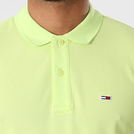 Tommy Jeans - Polo Manches Courtes Classic Solid Stretch 9439 Vert Anis