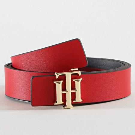 Tommy Hilfiger - Ceinture Femme Réversible Logo 9817 Noir Rouge
