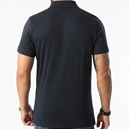 Tommy Jeans - Polo Manches Courtes Essential Jersey 0322 Bleu Marine Chiné