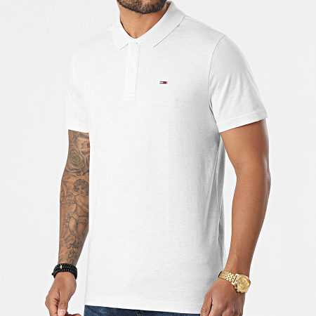 Tommy Jeans - Polo Manches Courtes Essential Jersey 0322 Beige Chiné