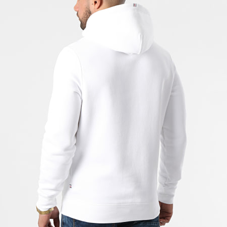 Tommy Hilfiger - Sweat Capuche Stacked Tommy Flag 7397 Blanc