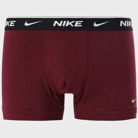 Nike - Lot De 2 Boxers Everyday Cotton Stretch KE1085 Bordeaux Gris