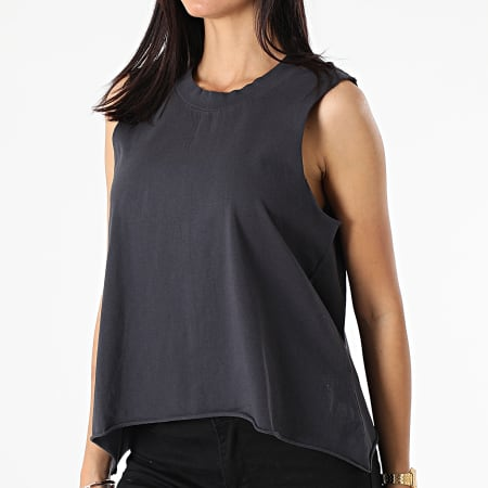 Noisy May - Top Femme Sans Manches Merle A-Shape Gris Anthracite