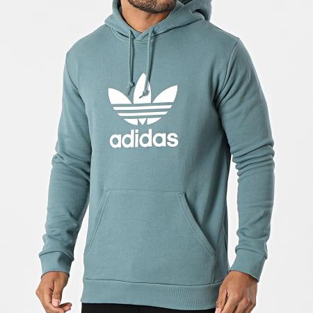 adidas - Sweat Capuche Trefoil GN3461 Vert