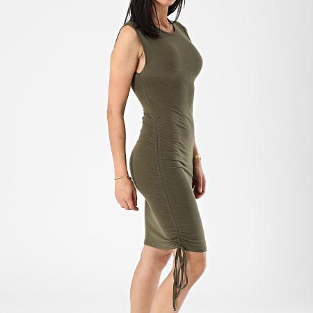 Noisy May - Robe Femme Sans Manches Multo Vert Kaki
