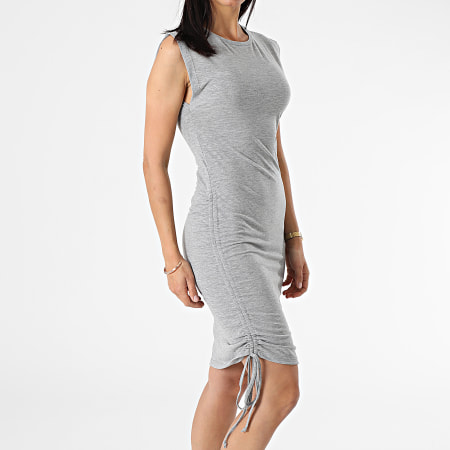 Noisy May - Robe Femme Sans Manches Multo Gris Chiné