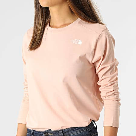 The North Face - Tee Shirt Manches Longues Femme Simple Dome Rose