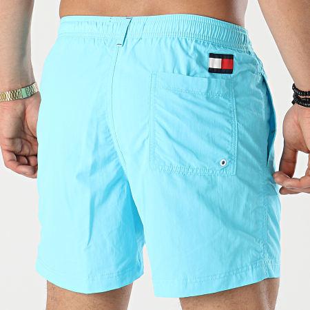 Tommy Hilfiger - Short De Bain Medium Drawstring 2041 Bleu Turquoise
