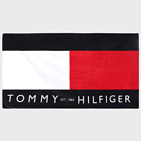 Tommy Hilfiger - Serviette De Bain Flag Large Signature 0042 Rouge