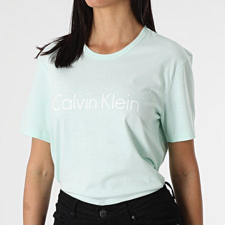 Calvin Klein - Tee Shirt Femme QS6105E Vert Clair