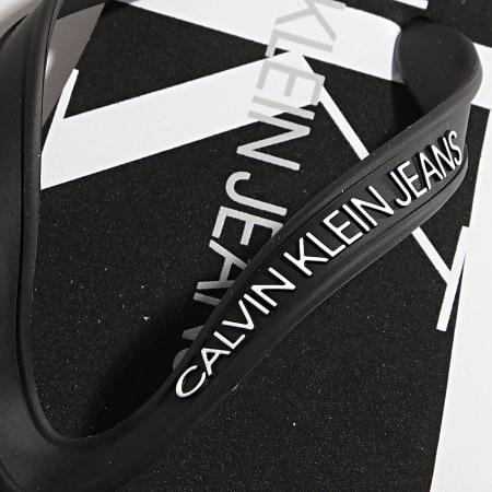 Calvin Klein Jeans - Tongs Monogram 0055 Noir