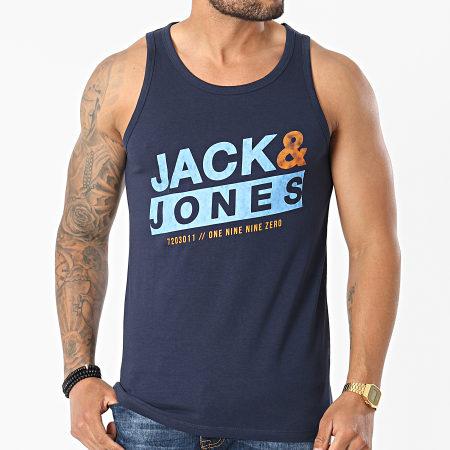 Jack And Jones - Débardeur Liquid Bleu Marine