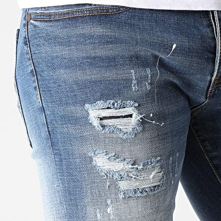 Mackten - Short Jean Slim DX-3099 Bleu Denim