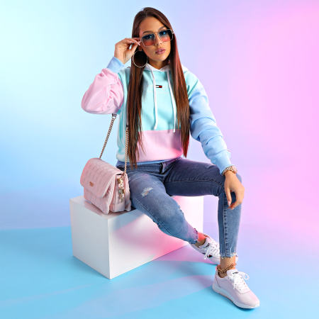 Tommy Jeans - Baskets Femme Technical Flexi Sneaker 1359 Light Pink