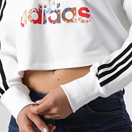adidas - Sweat Capuche Femme Boxy GN3356 Blanc
