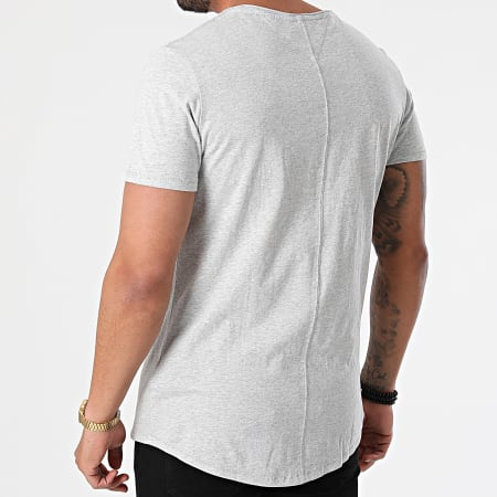 Tommy Jeans - Tee Shirt Oversize Slim Jaspe 9586 Gris Chiné