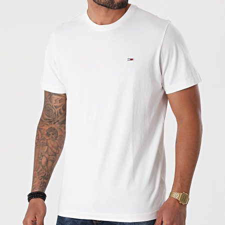 +et Tommy Jeans - Tee Shirt Classic Jersey 9598 Blanc