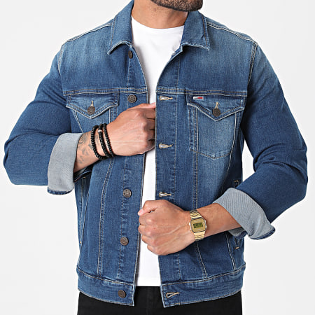 Tommy Jeans - Veste Jean Regular Trucker 0244 Bleu Denim