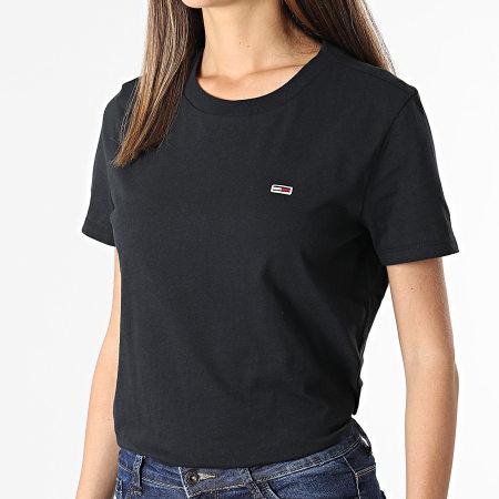 Tommy Jeans - Tee Shirt Femme Regular Jersey 9198 Noir