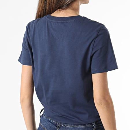 Tommy Jeans - Tee Shirt Femme Regular Jersey 9198 Bleu Marine