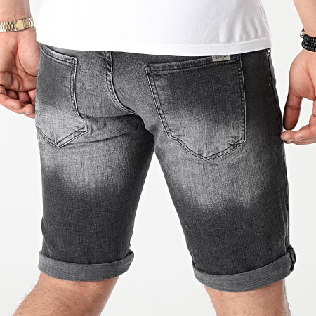 Uniplay - Short Jean 343 Gris Anthracite