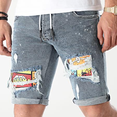 Uniplay - Short Jean Skinny 361 Bleu Denim