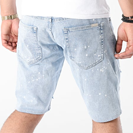 Uniplay - Short Jean Skinny 362 Bleu Wash