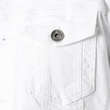 LBO - Veste Jean A Capuche 1616 Blanc Denim Blanc