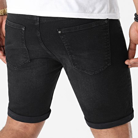 LBO - Short Jean Skinny Fit 1461 Denim Noir