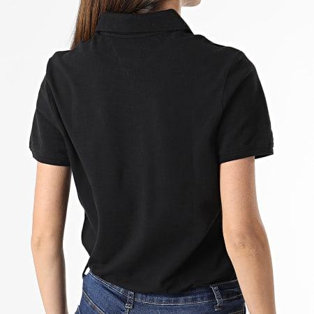 Tommy Jeans - Polo Manches Courtes Femme Slim 9199 Noir