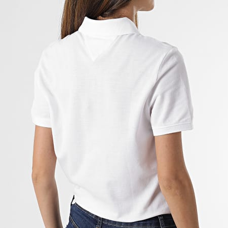 Tommy Jeans - Polo Manches Courtes Femme Slim 9199 Blanc