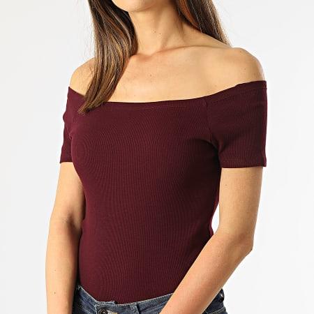 Urban Classics - Tee Shirt Crop Femme TB1500 Bordeaux