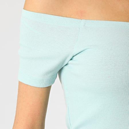 Urban Classics - Tee Shirt Crop Femme TB1500 Bleu Clair