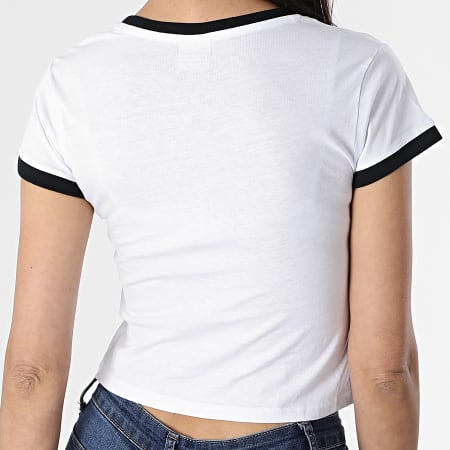 Urban Classics - Tee Shirt Crop Femme TB1502 Blanc Noir